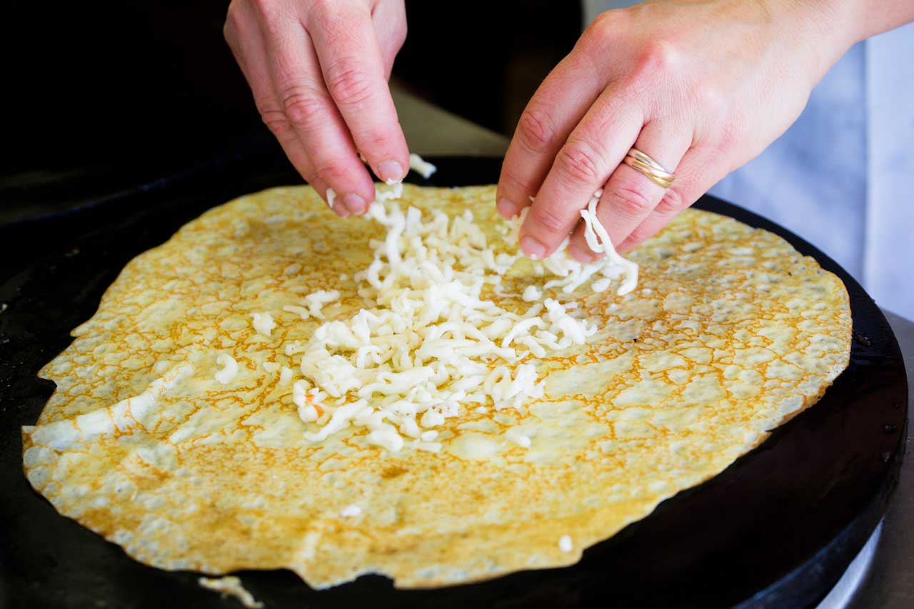 cheese-hands French Crepe Catering